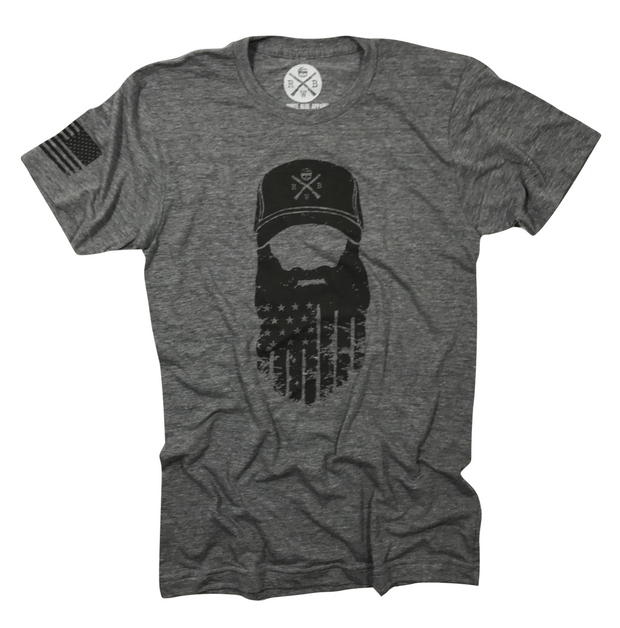 Men's American Beard Tri-Blend T-Shirt