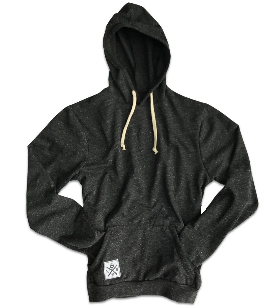 RWB Cut & Sew Lightweight Fleece Hoodie (Heather Black)