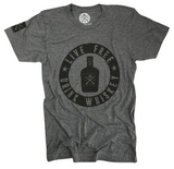 Men's Live Free Drink Whiskey Tri-Blend T-Shirt (Heather Gray)