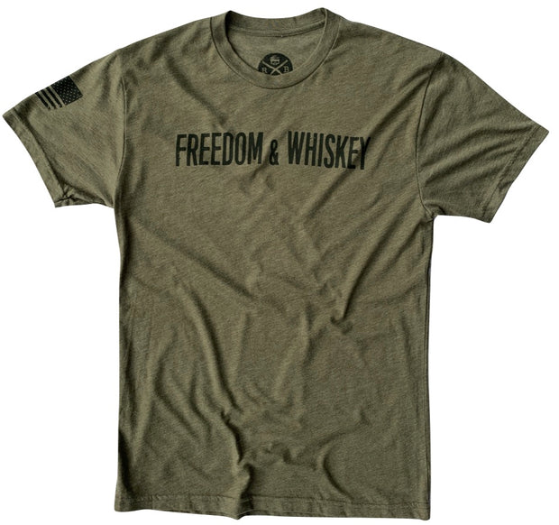 Men's Freedom & Whiskey Patriotic American T-Shirt