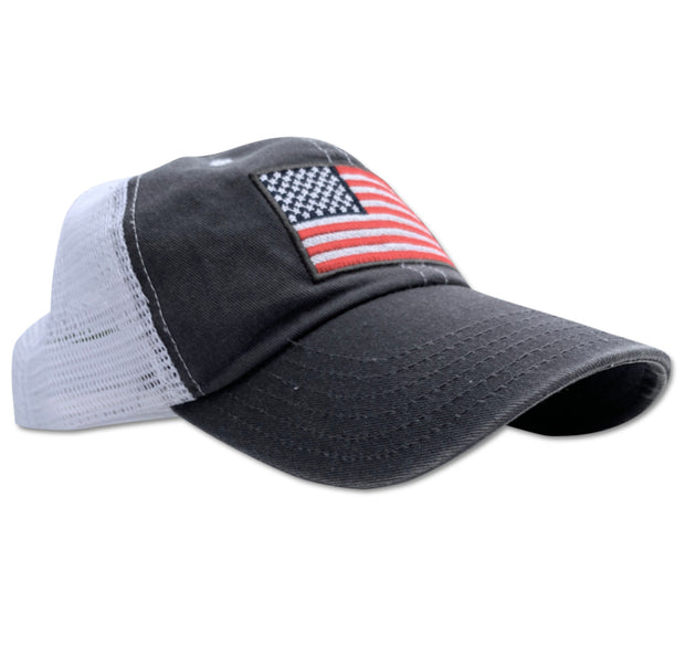Red White Blue Apparel Patriotic Women's American Flag trucker Hat Dad Style Cap Floppy Lid Made In America Ladies USA Clothing