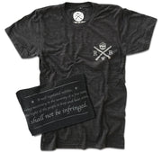 Men's Shall Not Be Infringed Second Amendment T Shirt (Heather Black)
