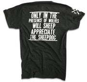 Men's Sheepdog Lives Matter Tri-Blend T-Shirt (Heather Black)