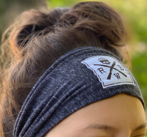 Women's American Made Heather Black Headband