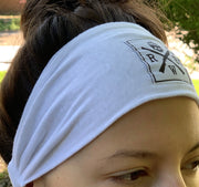 Women's American Made White Headband