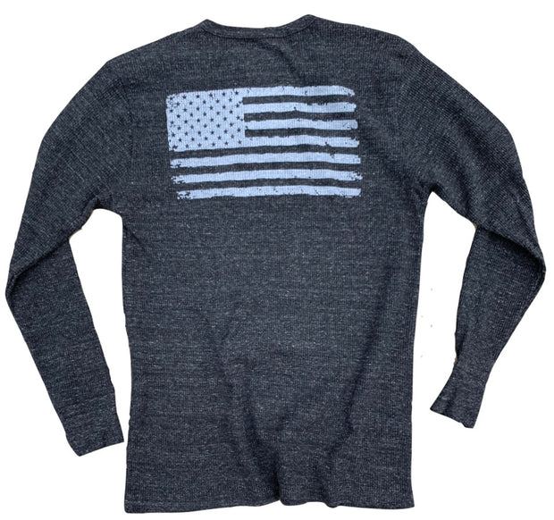 Men's Old Glory American Flag Thermal Long Sleeve Shirt