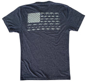 Men's American Flag Fish Lure Patriotic Angler T-Shirt