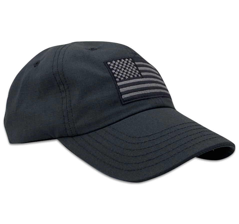 Red white blue apparel american usa flag range day full fabric ripstop unstructured velcro strap enclosure shooting hat made in America shooters tactical cap floppy style dad hat rip stop guns second amendment black