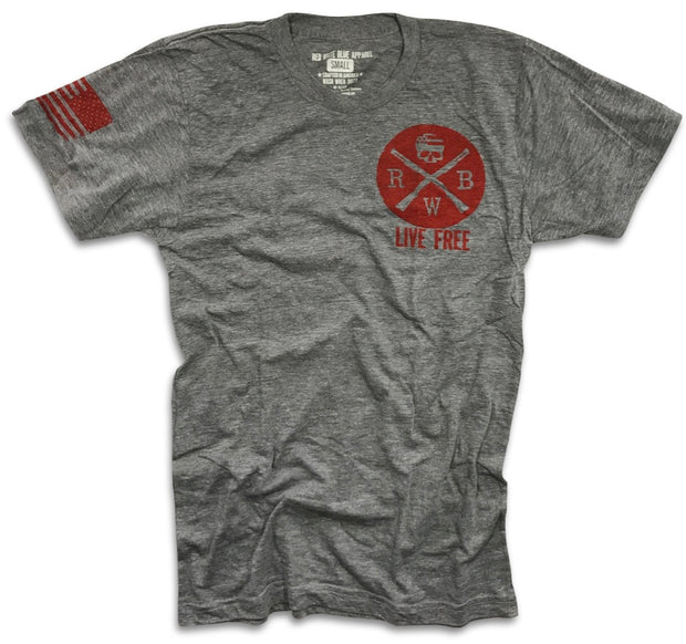 Men's Live Free Tri-blend T-Shirt (Heather Gray)