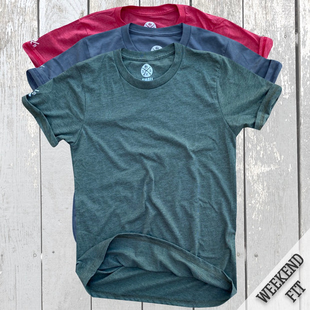 Women's American Made Basic Tees 3 Pack