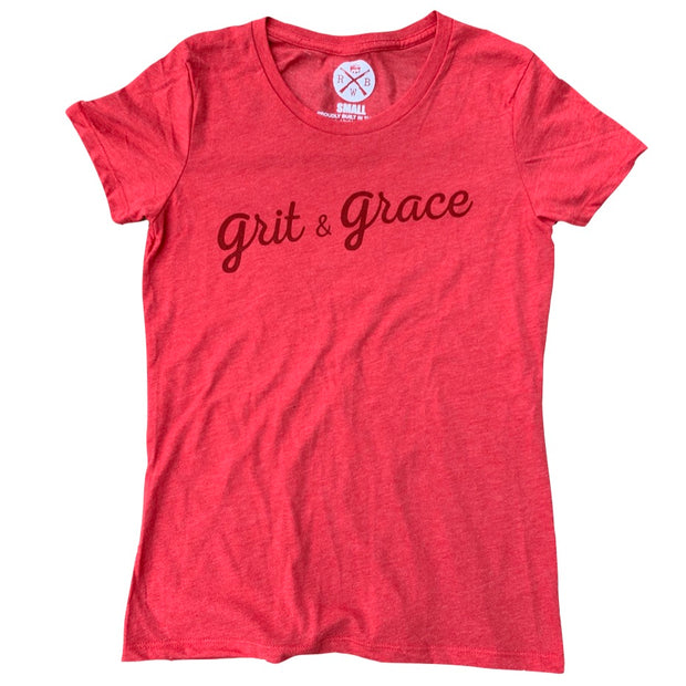Women's Grit & Grace Patriotic T Shirt (Red)