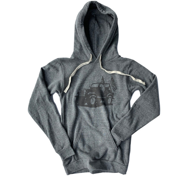 Women's Vintage American CJ-7 Jeep Hooded Sweatshirt