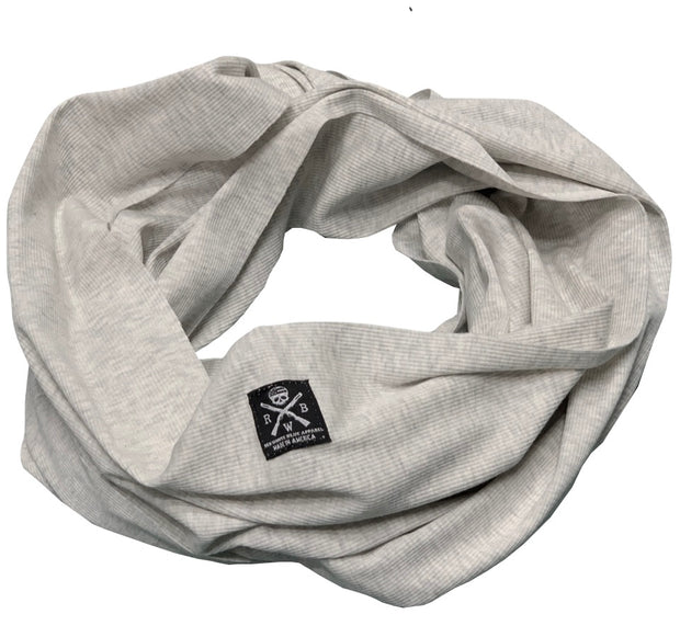 Ribbed Infinity Scarf Heather Oatmeal