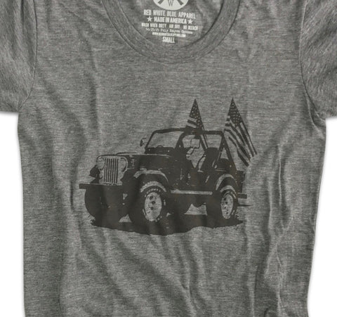Women's Classic American CJ Tri-Blend T-Shirt (Heather Gray)