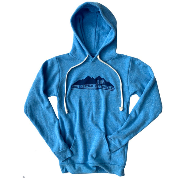 Women's Vintage Take The Road Less Traveled Hooded Sweatshirt