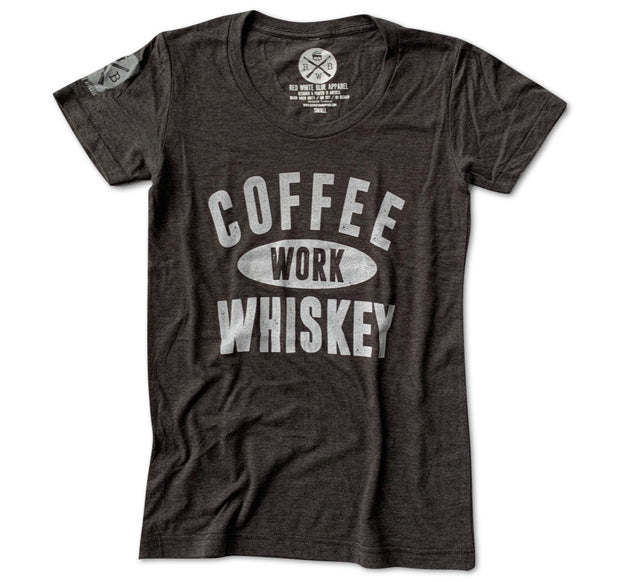 Women's Coffee Work Whiskey T Shirt