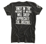 Women's Sheepdog Lives Matter Thin Blue Line T-Shirt