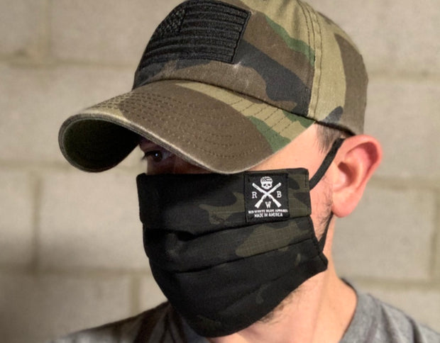 Face Cover Folded 2 Layer (Black Multicam)