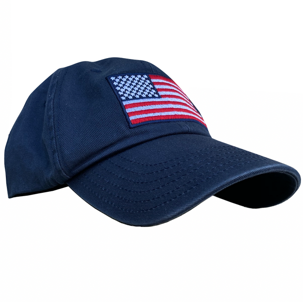 American Flag Vintage Washed Full Fabric Navy - RANGE HAT