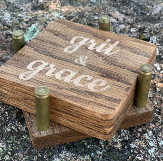 Hand Crafted Grit & Grace Coaster Set