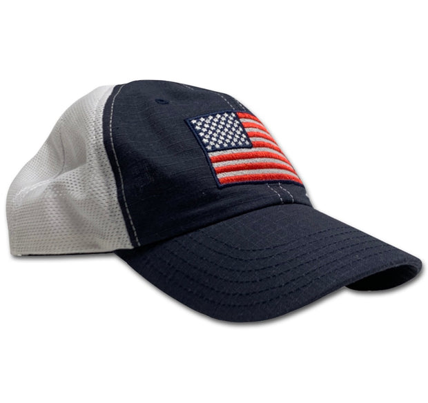 American Flag Patriotic Navy & White Range Hat