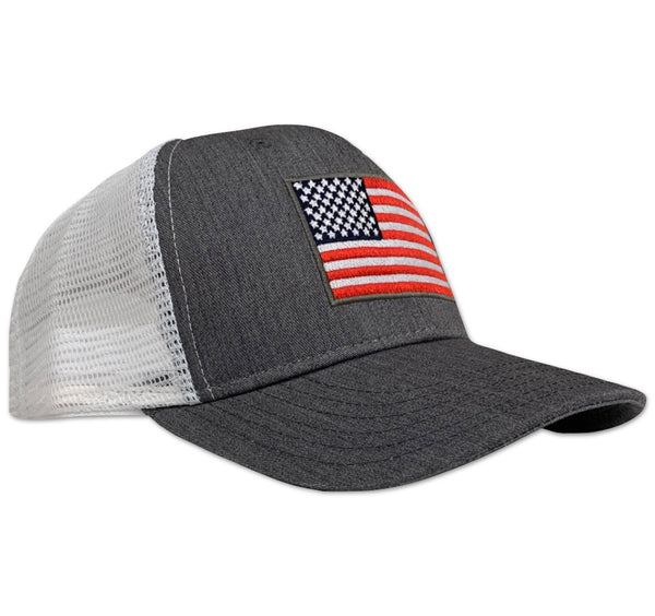 Red White Blue Apparel Snapback Trucker Mesh American Made Hat