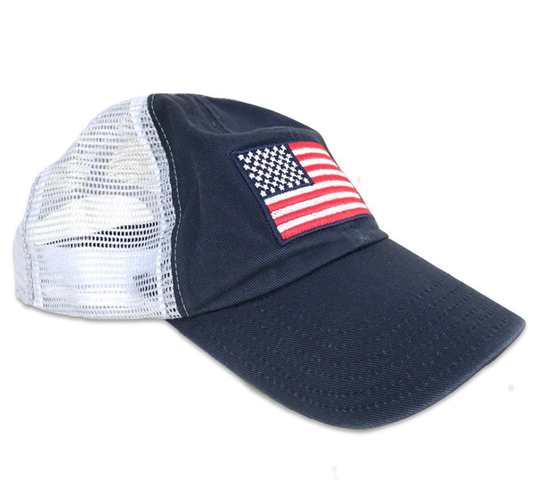 Vintage Women's American Flag Washed Dad Style Patriotic
