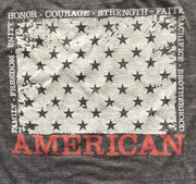 Men's AMERICAN Tri-blend T Shirt (Heather Black)