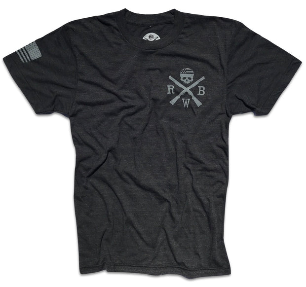 Men's Common Man American Creed Tri-Blend T-Shirt (Heather Black)