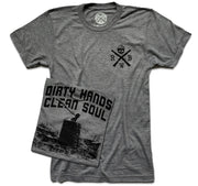 Men's Dirty Hands Clean Soul T Shirt (Heather Gray)