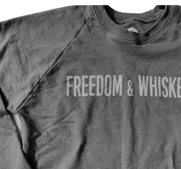 Women's Freedom & Whiskey Patriotic Slouch Vintage Sweatshirt