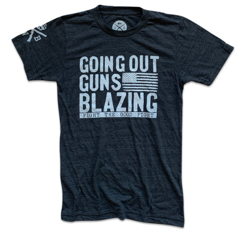 Men's Going Out Guns Blazing (Heather Black)