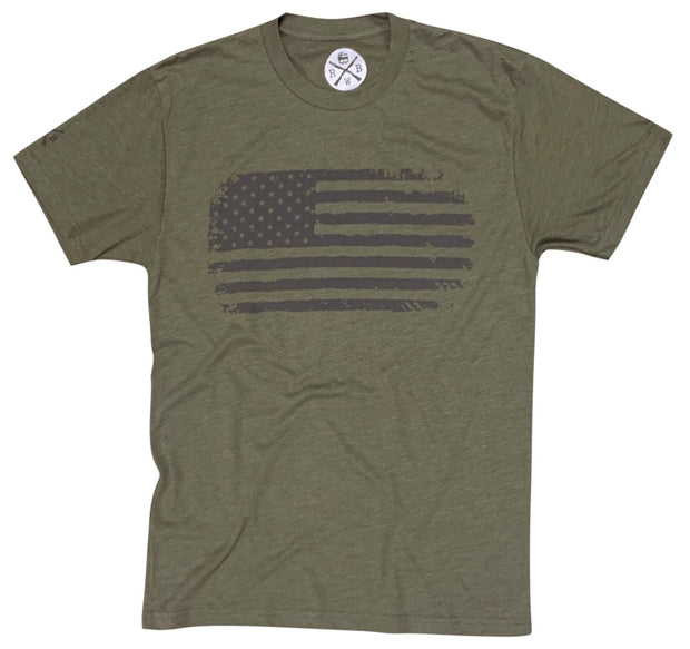 Men's Vintage American Flag Patriotic Army T-Shirt