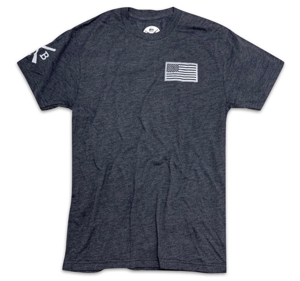 Men's American Flag Basic T-Shirt Navy