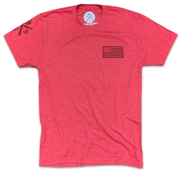Men's American Flag Basic T-Shirt Red