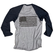 Men's American Flag Old Glory Baseball Raglan T Shirt