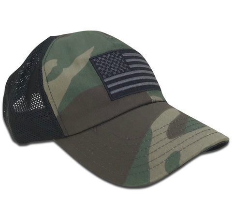 American Flag Coyote Mesh Back RANGE HAT