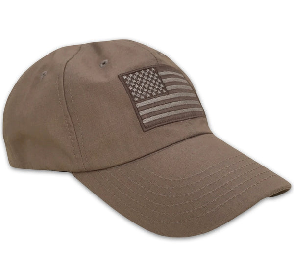 Ripstop Full Fabric American Flag Tactical Cap Made In USA – Red ... 9a21424a2ef