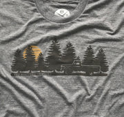 Men's Take the Road Less Traveled Tri-Blend T-Shirt (Heather Gray)