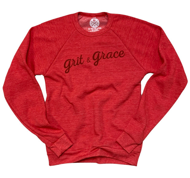 Women's Grit & Grace Raglan Ultra Soft Crew Neck Sweatshirt
