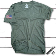 Women's Red White Blue Assaulting Forward T Shirt (Army)