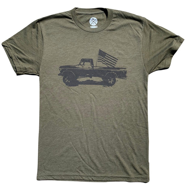 Men's Classic American Truck Tri-Blend T-Shirt (Army Green)