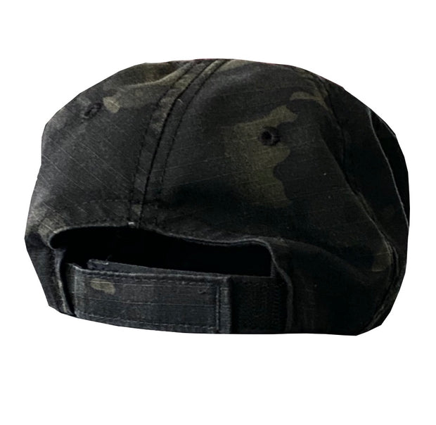 American Flag Vintage Washed Full Fabric Multicam Camouflage - RANGE HAT
