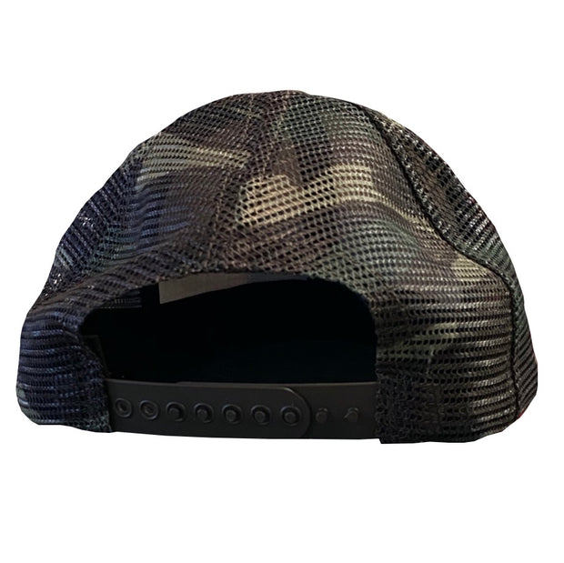Bowhunter American Flag Woodland Camo Deer Season Hat