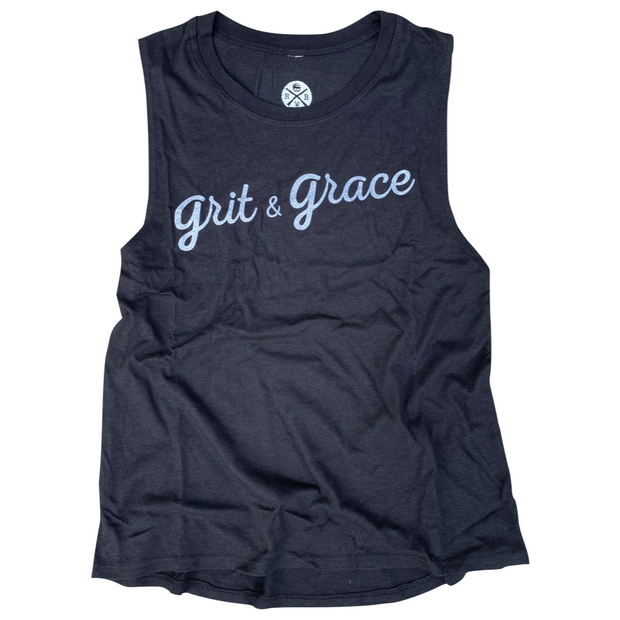 Women's Grit & Grace Muscle Tank Top Black