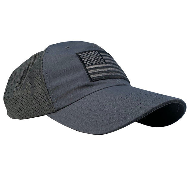 American Flag Charcoal Mesh Back - RANGE HAT