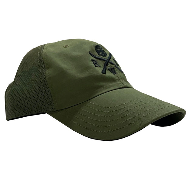 Red White Blue Logo Olive Drab Mesh Back - RANGE HAT