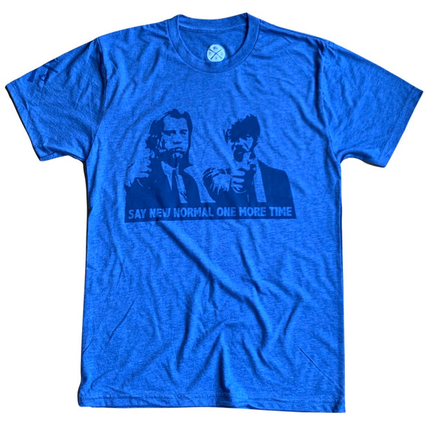 Men's Say New Normal One More Time Patriotic T Shirt Blue