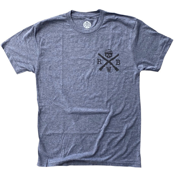 Men's Red Line Of Courage Tri-Blend T-Shirt (Heather Gray)