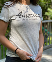 Women's America Love Her Or Leave Her Weekend Fit T-Shirt (Ash)